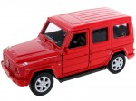 czerwony MERCEDES-BENZ G-CLASS SKALA 1:34-39 MODEL WELLY