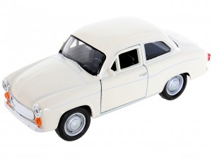 beżowa Syrena 105 Metalowy Model 1:34 Welly Auto syrenka