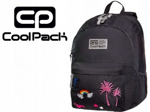 COOLPACK HIPPIE Sparkling Plecak Badges Black 24 Litry 33084