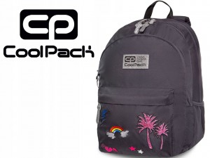 COOLPACK HIPPIE Sparkling Plecak Badges Grey 24 Litry 33085