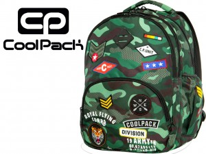 COOLPACK BENTLEY Plecak Camo Green Badges 30 Litrów 16110