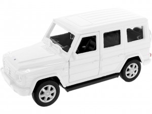 biały MERCEDES-BENZ G-CLASS SKALA 1:34-39 MODEL WELLY