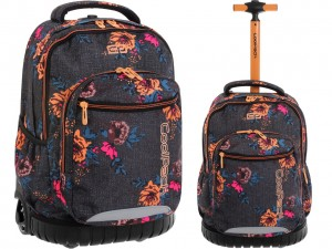 COOLPACK SWIFT 71482 Plecak na Kółkach GREY DENIM FLOWERS 34 L