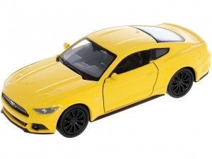 ŻÓŁTY MODEL FORD MUSTANG GT  Skala 1:34 Muscle Car WELLY