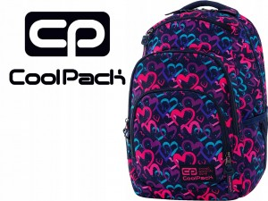 COOLPACK Plecak VANCE DRAWING HEARTS 20L + GRATIS C37141
