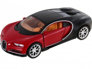 CZERWONY  WELLY Model BUGATTI CHIRON SKALA 1:34 Auto