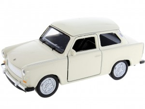 beżowy Trabant 601 Metalowy Model 1:34 Welly Auto Figurka