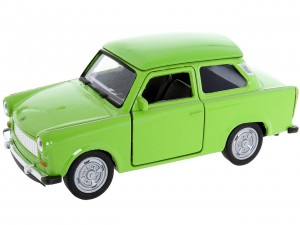 zielony Trabant 601 Metalowy Model 1:34 Welly Auto Figurka