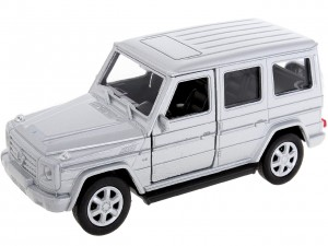 srebrny MERCEDES-BENZ G-CLASS SKALA 1:34-39 MODEL WELLY