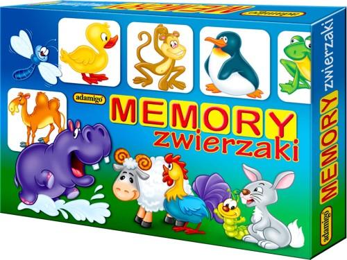 ceefaca6a5a268 Adamigo Pamięciowa Gra Towarzyska MEMORY Zwierzaki ZWIERZĘTA PLUSZNET