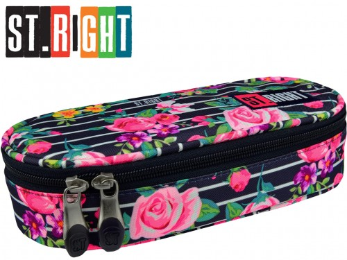 eab92662ddf53 ST.RIGHT PIÓRNIK usztywniany Saszetka 618529 LIGHT ROSES PC-01 RÓŻE ...