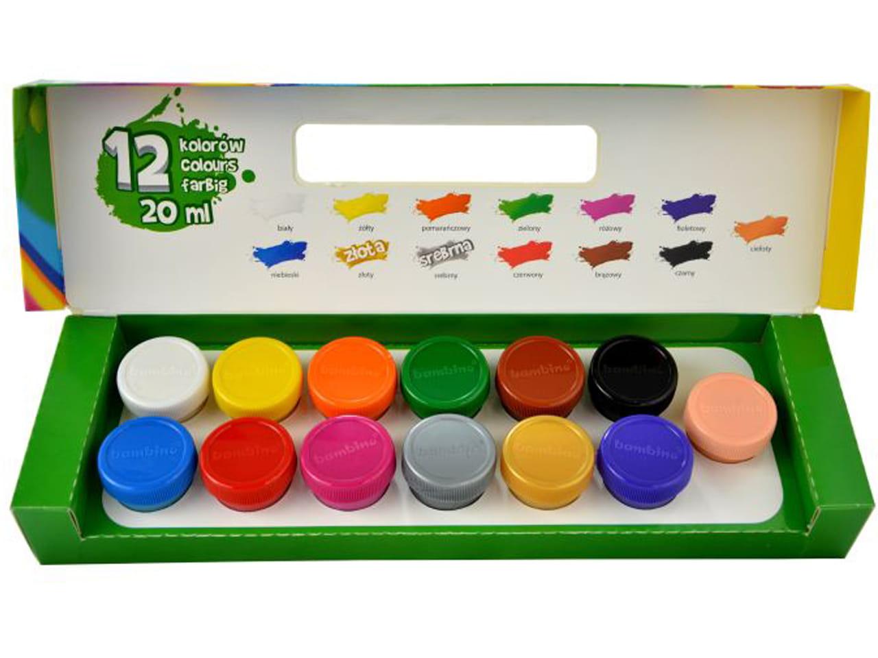 Szkolne Farby Plakatowe Bambino 12 Kolorow Plusznet